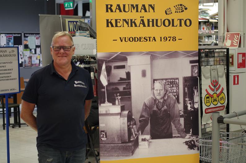 Juha Osmonen liikeessään vuonna 2018.